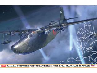 "HASEGAWA maquette avion 02311 Sichuan occidental H8K1 Type II gros aéronef de type 11 ""Deuxième attaque sur Pearl Bay"" 1/72"