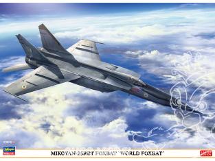 HASEGAWA maquette avion 02308 Mig 25RBT Foxbat «World FoxBat» 1/72