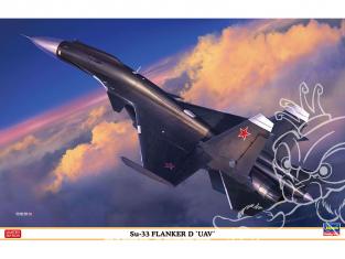 """HASEGAWA maquette avion 02313 Su-33 Flanker D """"UAV"""" 1/72"""