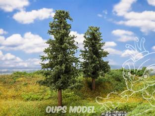 Faller végétation 181528 2 Sapins environ 110mm + 140mm