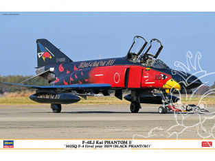 Hasegawa maquette avion 07476 F-4EJ Kai Super Phantom «302SQ F-4 Final Year 2019 (Black Phantom)» 1/48