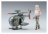 """Hasegawa maquette avion 52223 Collection Egg Girls No.11 """"Lucy MacDonnell"""" (Armée) avec Hughes 500 1/20"""