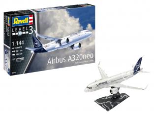 Revell maquette avion 63942 Model Set Airbus A320 neo Lufthansa inclus colle et peintures 1/144