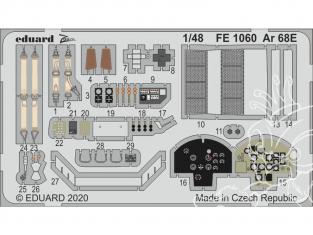 EDUARD photodecoupe avion FE1060 Amélioration Arado Ar 68E Roden 1/48