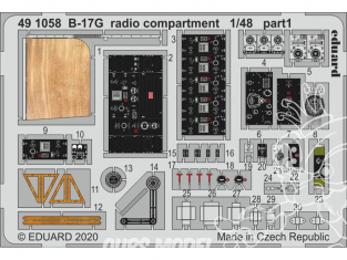 EDUARD photodecoupe avion 491058 Compartiment radio B-17G Hk Models 1/48