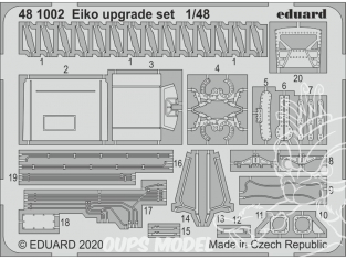 EDUARD photodecoupe avion 481002 Amélioration Eiko Eduard 1/48