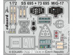 Eduard photodecoupe avion SS695 Zoom Amélioration MiG-17 Airfix 1/72
