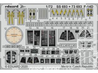 Eduard photodecoupe avion 73693 Amélioration F-14D Great Wall Hobby 1/72