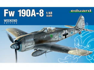 EDUARD maquette avion 84122 Focke Wulf Fw 190A-8 WeekEnd Edition 1/48