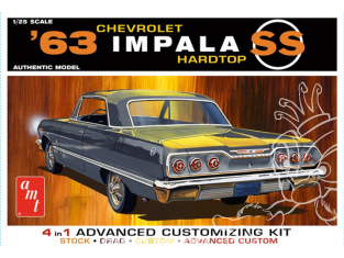 AMT maquette voiture 1149 1963 Chevy Impala SS Hardtop (4 'n 1) 1/25