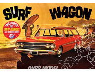"AMT maquette voiture 1131 1965 Chevy Chevelle ""Surf Wagon"" (4 'n 1) 1/25"
