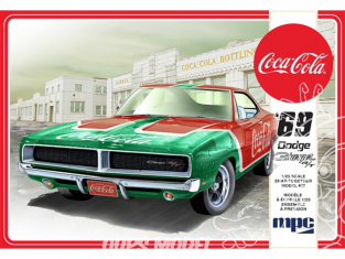 "MPC maquette voiture 919 1969 ""Coca-Cola"" Dodge Charger RT 1/25"