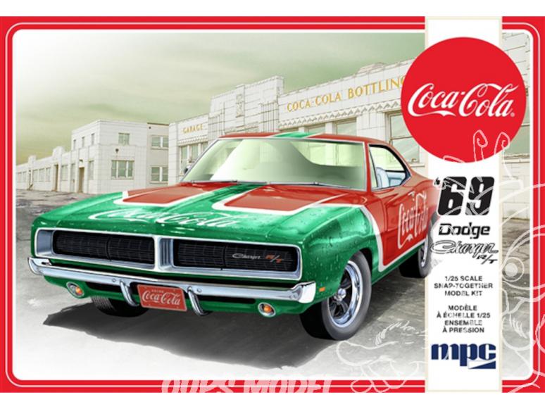 "MPC maquette voiture 919 1969 ""Coca-Cola"" Dodge Charger RT 1/25"