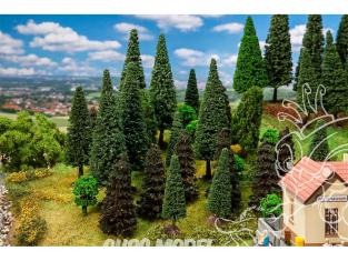 Faller végétation 181530 30 Arbres de forêt mixte, assortis