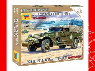 Zvezda maquette militaire 6245 Transport de troupes blindé américain M-3 SCOUT 1/100
