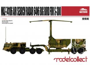 Modelcollect maquette militaire 72049 Radar de recherche aérien MAZ-74106 64N6 BIG BIRD pour S-300 1/72