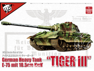 Modelcollect maquette militaire 35013 Tiger III Char lourd allemand E-75 WWII avec canon de 105mm 1/35