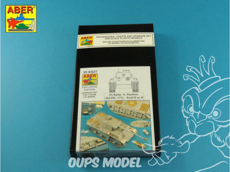 Aber 35K02T Kit amelioration pour Pz.Kpfw. V Panther Ausf.D A ( i.Kfz.171) Panther (Takom) 1/35