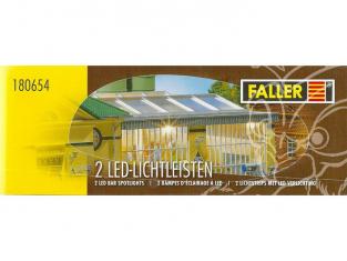 Faller 180654 2 Rampes d'éclairage à LED blanc chaud chacune 180 mm (2 x)