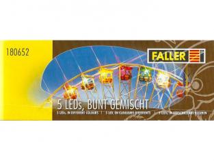 Faller 180652 5 LED, en clouleurs differents