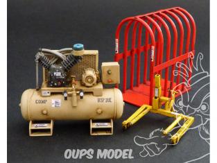Plus Model Diorama 519 Équipement de réparation de pneus américain 1/35