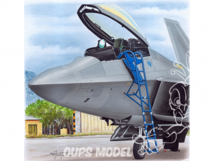 Plus Model AL4085 Echelle pour un Lockheed Martin F-22 Raptor 1/48