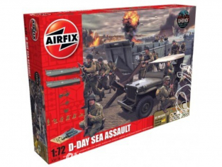 Airfix maquette militaire A50156A 75th Anniversary D-Day Sea Assault Set 1/35
