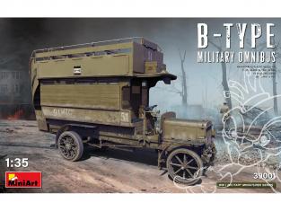 Mini Art maquette militaire 39001 OMNIBUS MILITAIRE DE TYPE B 1/35
