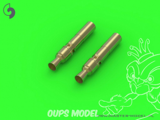 Master Model GM-35-028 MG-34 7.92mm Caliber x2 - Embouts de barils Machine gun 1/35