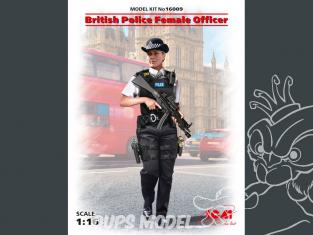 Icm maquette figurine 16009 Femme Officier de police britannique (100% nouveaux moules) 1/16