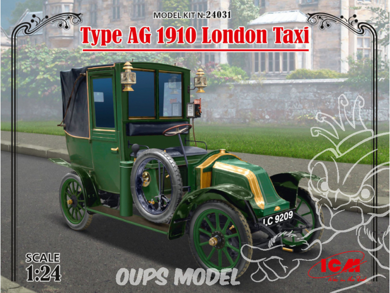 Icm maquette voiture 24031 Type AG 1910 London Taxi 1/24