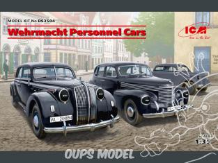 Icm maquette militaire DS3504 set de Wehrmacht Personnel Cars WWII 1/35
