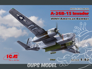 Icm maquette avion 48282 A-26B-15 Invader Bombardier américain WWII 1/48