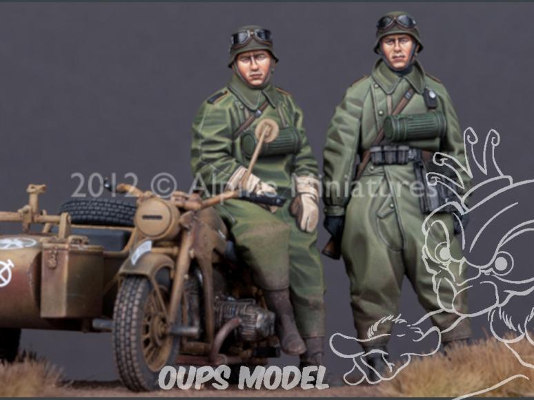 Alpine figurine 35144 set de motards allemand (2 figurines) 1/35