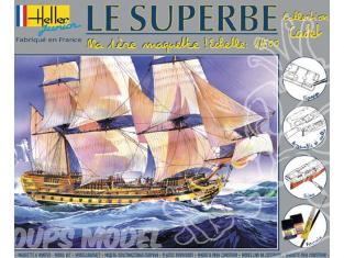 Heller maquette bateau 49067 kit complet Le Superbe 1/500