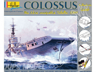 Heller maquette bateau 49076 kit complet Colossus 1/1600