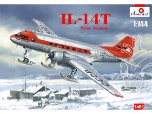 Amodel maquette avion 1481 Iliouchine Il-14T Polar aviation 1/144