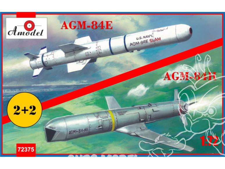 Amodel maquettes avion 72375 AGM-84 E/H Harpoon 1/72