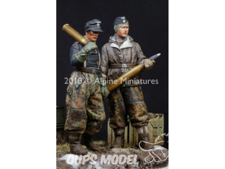 Alpine figurine 35107 Ensemble d'équipage WSS Panther (2 figurines) n°1 et n°2 1/35