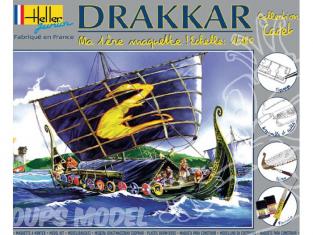 Heller maquette bateau 49056 kit complet Drakkar 1/180