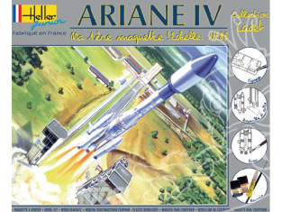 Heller maquette espace 49071 kit complet Ariane IV 1/288
