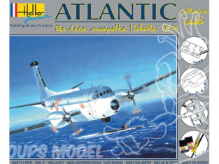 Heller maquette avion 49072 kit complet Atlantic 1/200