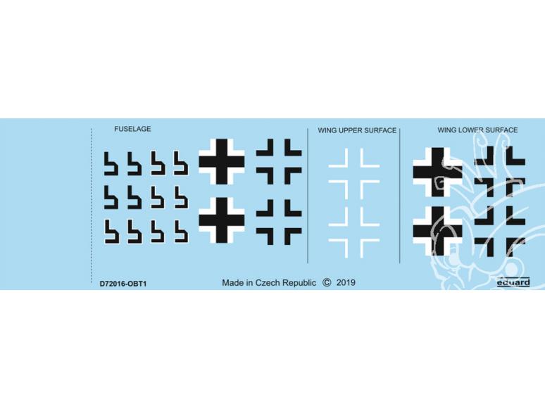 Eduard Decalques avion D72016 Insignes nationaux Focke-Wulf Fw 190A-8 1/72