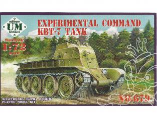 UM maquette militaire 679 Char de commandement expérimentale KBT-7 1/72
