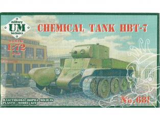 UM maquette militaire 681 Char chimique HBT-7 1/72