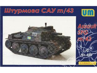 UM Unimodels maquettes militaire 489 Stormartillerivagn m/43 105mm SPG 1/72