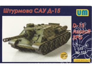 UM Unimodels maquettes militaire 532 Canon automoteur Russe D-15 1/72