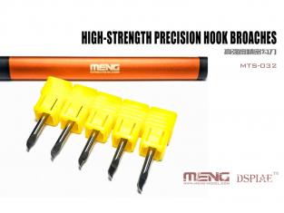 MENG MTS-032 pointes a graver de precision 0,1 mm, 0,3 mm, 0,5 mm, 0,8 mm et 1,0 mm
