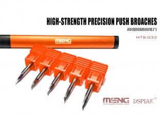 MENG MTS-033 pointes a graver de precision 0,15 mm, 0,3 mm, 0,5 mm, 0,8 mm et 1,0 mm