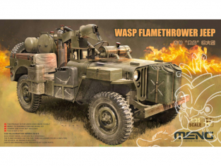 Meng maquette militaire VS-012 Willys MB WASP Lance flammes 1/35